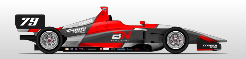 Artistic rending of Dallara IL-15 with BN Racing team livery