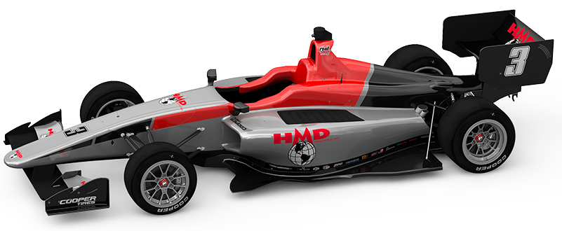 Artistic rending of Dallara IL-15 with HMD Motorsports team livery